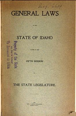 General Laws of the State of Idaho     PDF