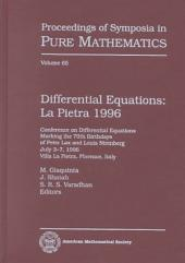 Differential Equations: La Pietra 1996 : Conference on Differential Equations Marking the 70th Birthdays of Peter Lax and Louis Nirenberg, July 3-7, 1996, Villa La Pietra, Florence, Italy