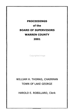 Proceedings of the Board of Supervisors of Warren County  New York PDF