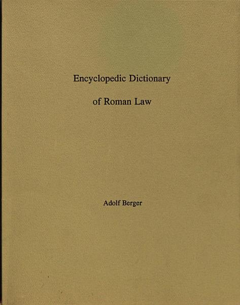 Download Encyclopedic dictionary of Roman law Book