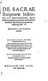 Lectio quotidiana Sacrae Scripturae ...
