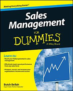 Sales Management For Dummies Book