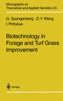 Biotechnology in Forage and Turf Grass Improvement PDF