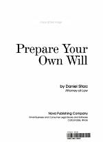 Prepare Your Own Will