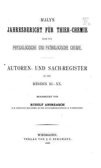 Jahres Bericht   ber die Fortschritte der Tier Chemie  oder der physiologischen  pathologischen und Immuno Chemie und der Pharmakologie     PDF