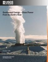Geothermal Energy  Clean Power from the Earth   s Heat PDF