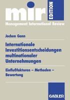 Internationale Investitionsentscheidungen multinationaler Unternehmungen PDF
