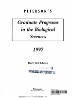 Peterson s Guide to Graduate Programs in the Biological Sciences 1997 PDF