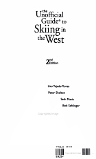 The Unofficial Guide to Skiing in the West PDF