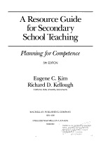 A Resource Guide for Secondary School Teaching PDF