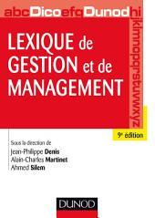 Lexique de gestion et de management - 9e éd.