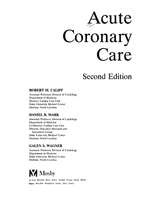 Acute Coronary Care