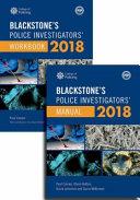 Blackstone s Police Investigators  Manual and Workbook 2018 PDF