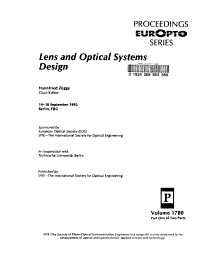 Lens and Optical Systems Design PDF