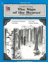 A Guide for Using the Sign of the Beaver in the Classroom PDF