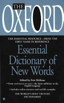 The Oxford Essential Dictionary of New Words