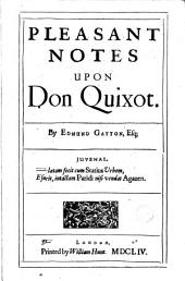 Pleasant Notes Upon Don Quixot