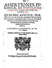 Assertiones Ivridicae, Ex Titvlo De Ivdiciis, Libri Secvndi Decretalium, extra