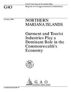 Northern Mariana Islands garment and tourist industries play a dominant role in the Commonwealth's economy : report to congressional committees