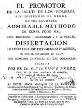 El promotor de la salud de los hombres ...: Dissertacion histórico-crítico-médico-práctica
