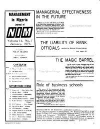 Management in Nigeria PDF