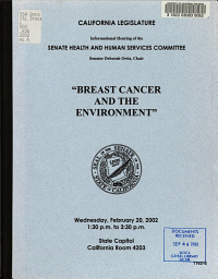Informational Hearing of the Senate Health and Human Services Committee PDF