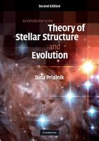 An Introduction to the Theory of Stellar Structure and Evolution PDF
