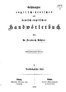 Vollst  ndigstes englisch deutsches und deutsch englisches Handw  rterbuch PDF