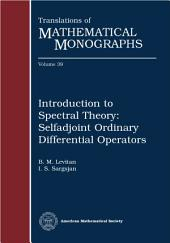 Introduction to spectral theory: selfadjoint ordinary differential operators: Selfadjoint Ordinary Differential Operators