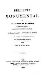 Bulletin monumental: publié sous les auspices de la Société française d'archéologie..., Volume12