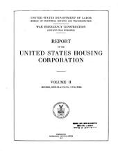 War Emergency Construction: Houses, site-planning, utilities