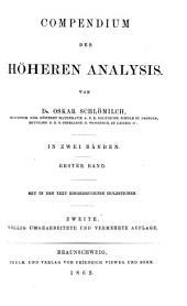 Compendium der höheren Analysis: Band 1