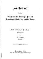 H  lfsbuch f  r den Verkehr mit den Eisenbahn   Post   und Telegraphen anstalten des Deutschen Reichs PDF