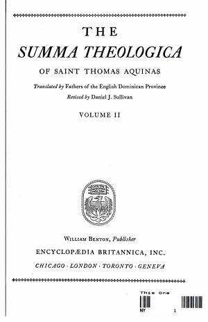 THE SUMMA THEOLOGICA PDF