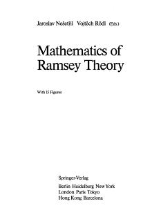 Mathematics of Ramsey Theory PDF