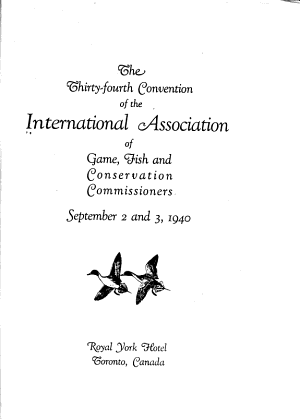Proceedings of the Annual Meeting   International Association of Game  Fish  and Conservation Commissioners PDF