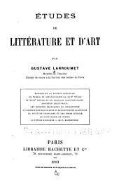 Études de littérature et d'art