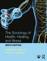The Sociology of Health  Healing  and Illness PDF