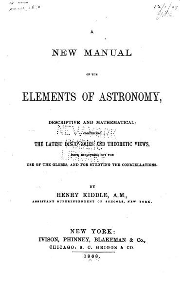 Download A New Manual of the Elements of Astronomy Book