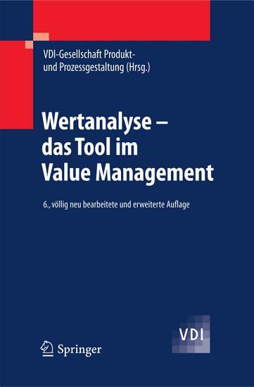 Wertanalyse   das Tool im Value Management PDF