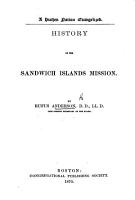 History of the Sandwich Islands Mission PDF