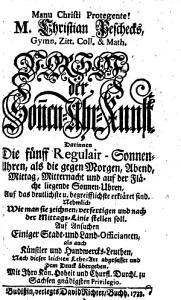 M  Christian Peschecks  Gymn  Zitt  Coll    Math  Vorhof der Son n en Uhr Kunst PDF