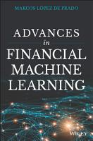 Advances in Financial Machine Learning PDF