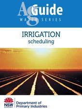 Irrigation: Scheduling
