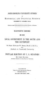 Local Government in the South and the Southwest