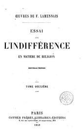 Essai sur l'indifférence en matière de religion, 2
