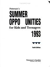 Peterson s Summer Opportunities for Kids and Teenager s 1993 PDF