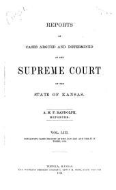 Kansas Reports: Volume 53