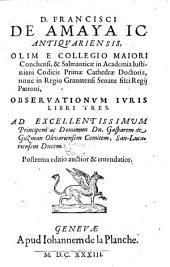 Observationum juris libri tres