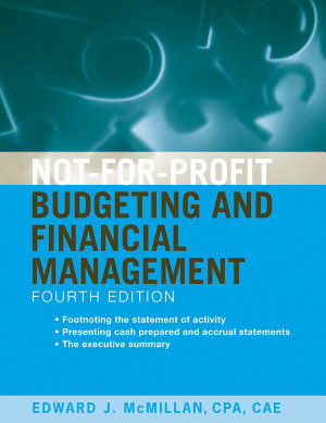 Not for Profit Budgeting and Financial Management